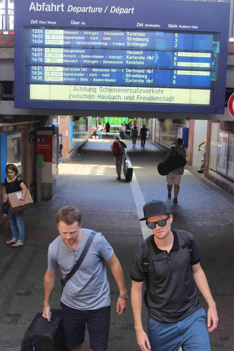Der Pasch in Offenburg:  Felix (re) und Till Neumann  sind am Zug