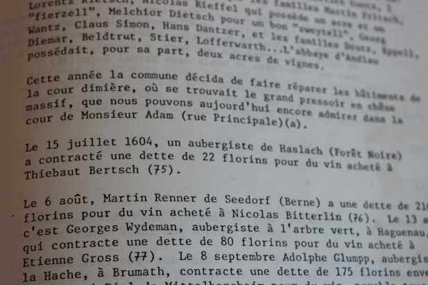 Le Weinschlag - Abschrift von Patrick FOURNIAL