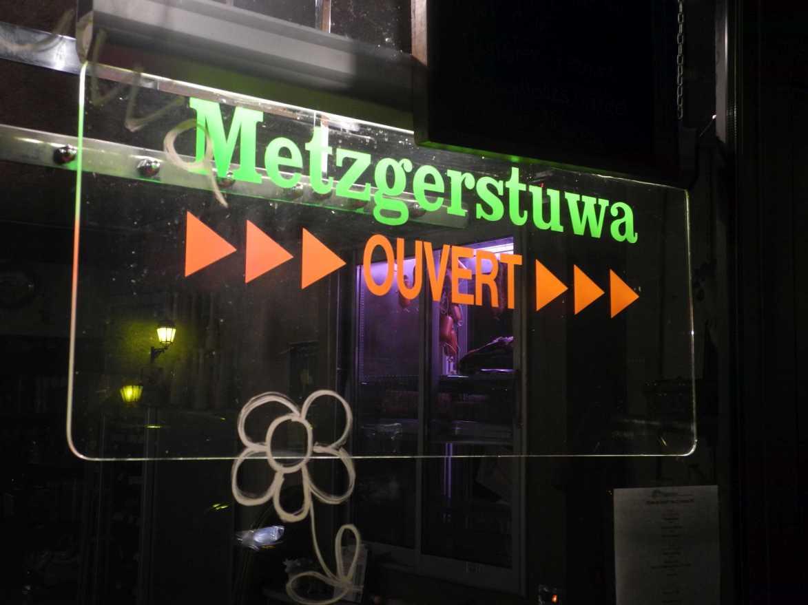 Hier geht's definitiv um die Wurst! La Metzgerstuwa