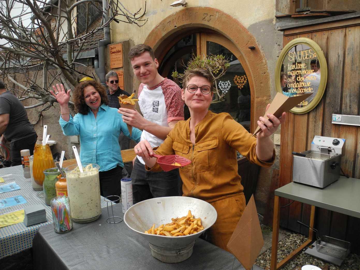 Auf belgische Art, die besten Fritten der Welt ...