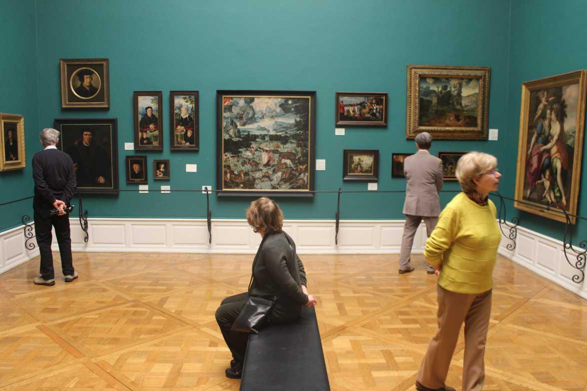 Alte Meister in einem grünen Raum (Museum der Schnen Künste)